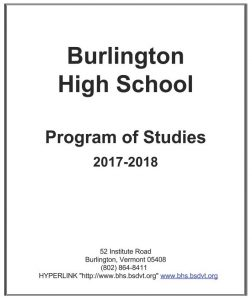 BHS Program of Studies Cover