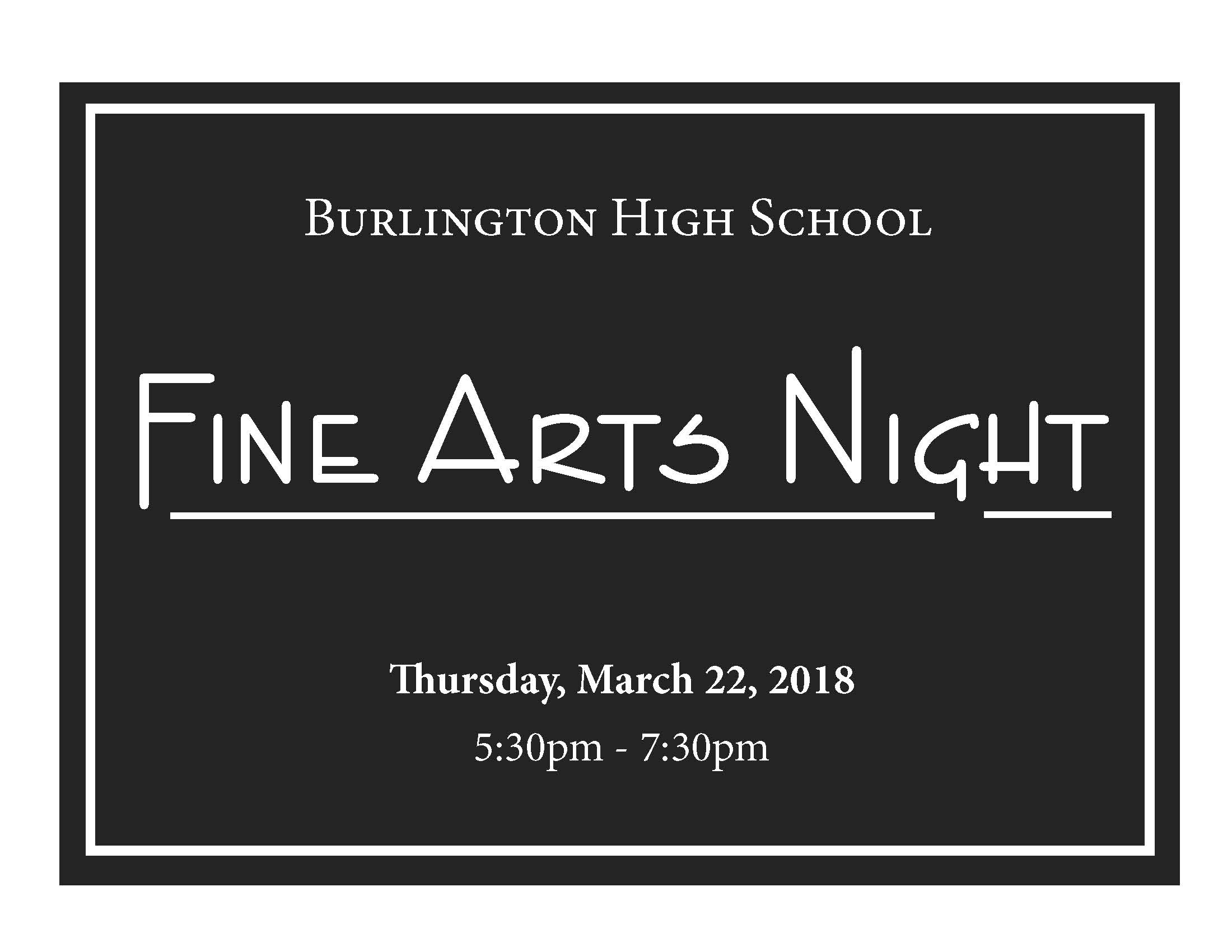 Fine Arts Night Ad