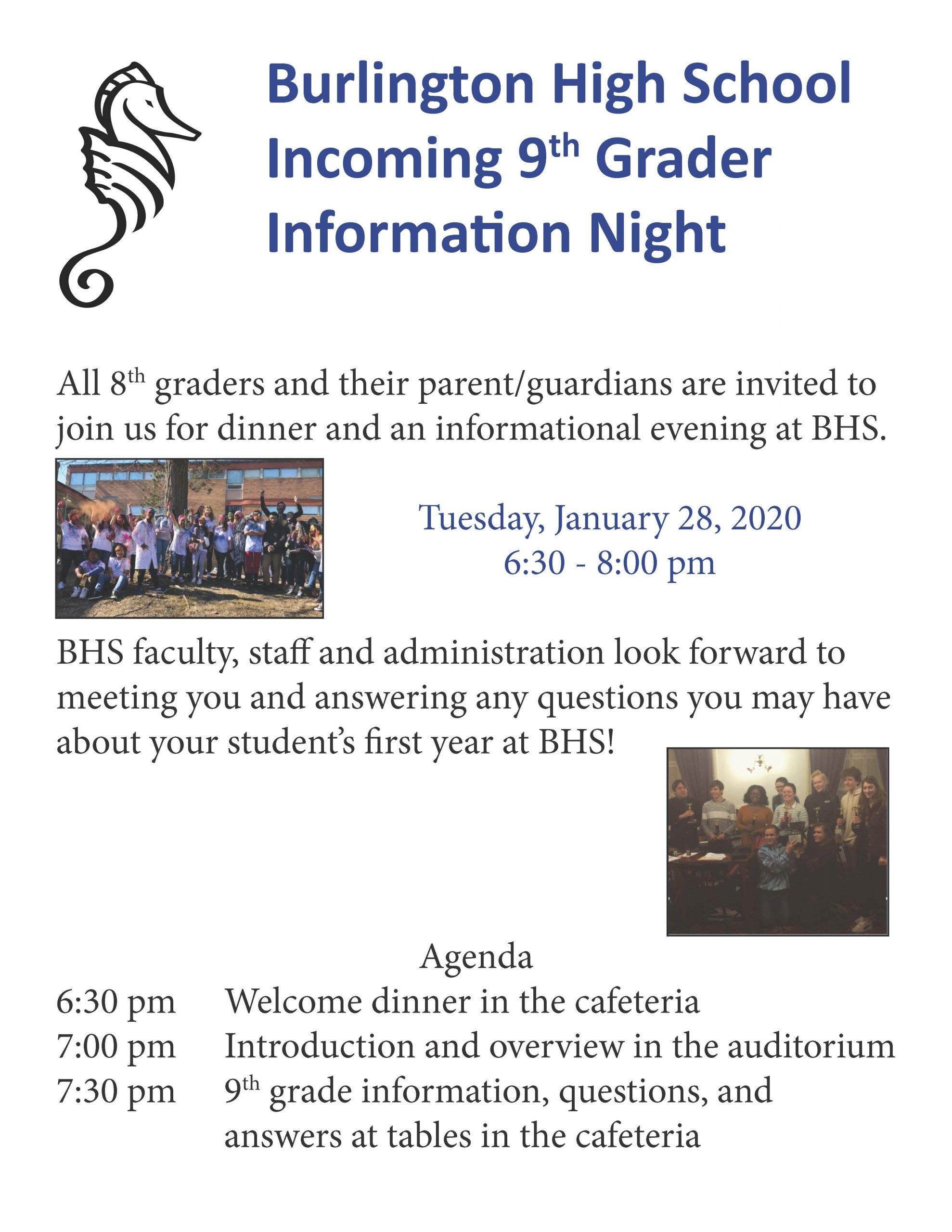 information night 8th grade jan 2020